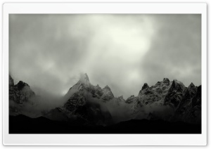 Misty Mountain Top HD Wide Wallpaper for Widescreen