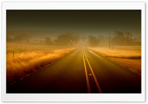 Misty Road HD Wide Wallpaper for Widescreen