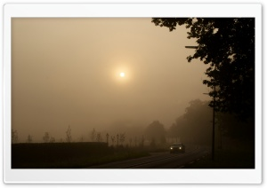 Misty Sunday Morning HD Wide Wallpaper for Widescreen