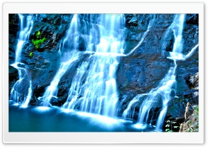 Misty Waterfall HD Wide Wallpaper for Widescreen