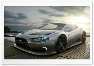 Mitsubishi Concept Car HD Wide Wallpaper for Widescreen
