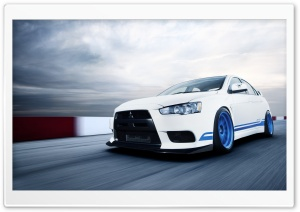 Mitsubishi Lancer Evolution HD Wide Wallpaper for Widescreen