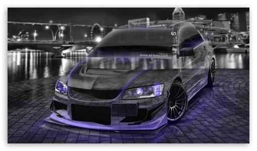 Download Mitsubishi Lancer Evolution Crystal City Car... HD Wallpaper