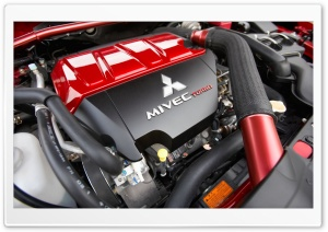 Mitsubishi MIVEC Turbo Engine 1 HD Wide Wallpaper for Widescreen