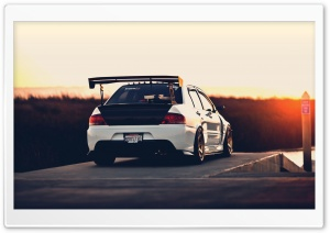 Mitsubishi Sunset HD Wide Wallpaper for Widescreen