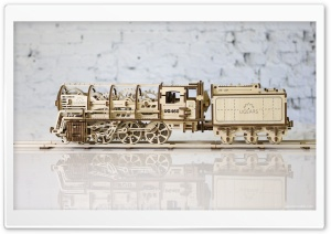 Model Steam Locomotive with Tender Ugears 460 HD Wide Wallpaper for Widescreen