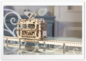 Model Tram Ugears HD Wide Wallpaper for Widescreen
