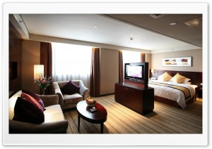 Modern Hotel Room HD Wide Wallpaper for Widescreen