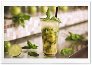 Mojito Cocktail HD Wide Wallpaper for Widescreen