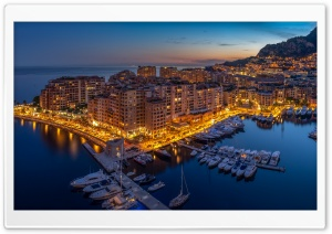 Monaco Aerial View HD Wide Wallpaper for Widescreen