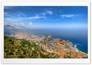 Monaco Panoramic View HD Wide Wallpaper for 4K UHD Widescreen desktop & smartphone