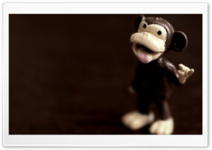 Monkey Figurine Macro HD Wide Wallpaper for Widescreen