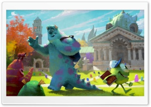 Monster University 2013 Concept Art HD Wide Wallpaper for Widescreen