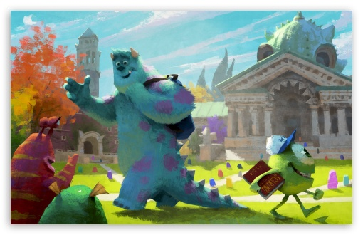 Monster university 2013 concept art hd wallpaper for standard 4:3