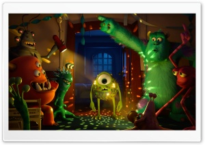 Monster University Party HD Wide Wallpaper for Widescreen
