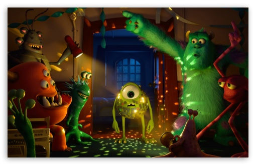 Monster university party 4k hd desktop wallpaper for 4k ultra download monster university party hd wallpaper voltagebd Images