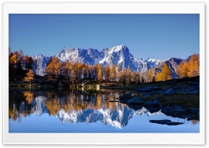 Mont Blanc Autumn HD Wide Wallpaper for Widescreen