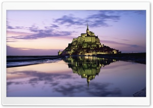 Mont Saint Michel, Normandy, France HD Wide Wallpaper for Widescreen