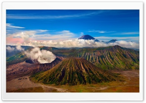 Monte Bromo, Jawa, Indonesia HD Wide Wallpaper for Widescreen