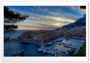 Monte Carlo Harbour HD Wide Wallpaper for Widescreen