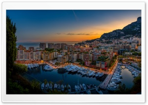 Monte Carlo Harbour, Monaco HD Wide Wallpaper for Widescreen