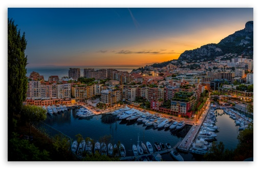 Monte Carlo Harbour, Monaco HD wallpaper for Wide 16:10 5:3 Widescreen WHXGA WQXGA WUXGA WXGA WGA ; HD 16:9 High Definition WQHD QWXGA 1080p 900p 720p QHD nHD ; Mobile 5:3 16:9 - WGA WQHD QWXGA 1080p 900p 720p QHD nHD ;