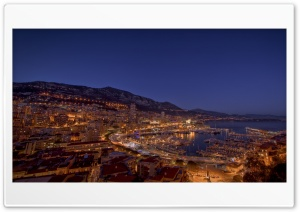 Monte Carlo Night Lights HD Wide Wallpaper for Widescreen