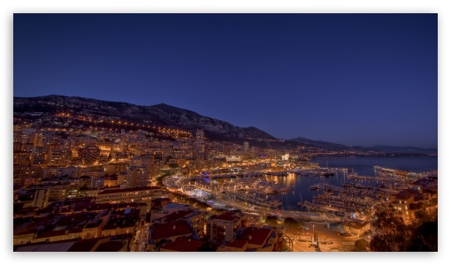 Monte Carlo Night Lights HD wallpaper for HD 16:9 High Definition WQHD QWXGA 1080p 900p 720p QHD nHD ; Mobile 16:9 - WQHD QWXGA 1080p 900p 720p QHD nHD ;
