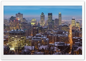 Montreal Skyscrapers HD Wide Wallpaper for Widescreen