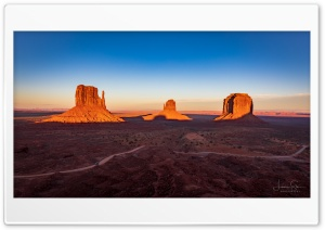 Monument Valley Sunset Ultra HD Wallpaper for 4K UHD Widescreen desktop, tablet & smartphone