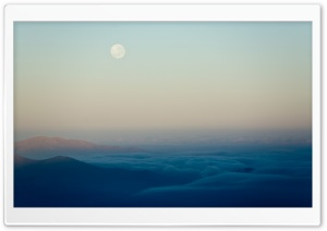 Moon Above The Clouds HD Wide Wallpaper for Widescreen