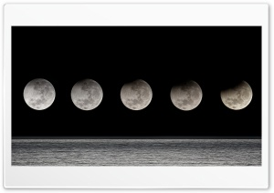 Moon Eclipse Sequence Ultra HD Wallpaper for 4K UHD Widescreen desktop, tablet & smartphone