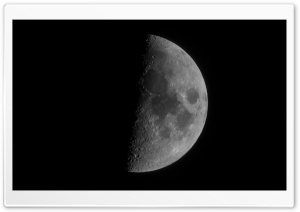 Moon, Half Moon HD Wide Wallpaper for Widescreen