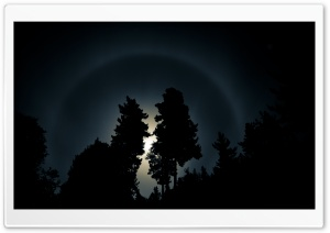 Moon Halo HD Wide Wallpaper for Widescreen