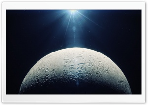 Moon In Space HD Wide Wallpaper for Widescreen