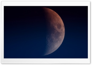Moon increasing, Half Moon HD Wide Wallpaper for Widescreen