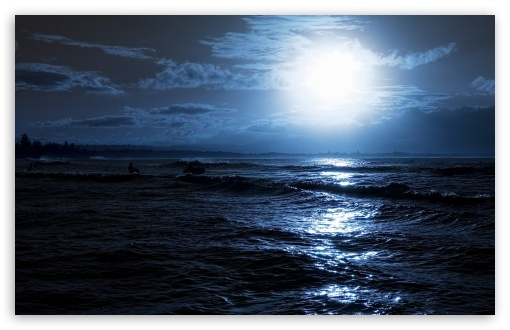 Moon Over The Sea HD wallpaper for Wide 16:10 5:3 Widescreen WHXGA WQXGA WUXGA WXGA WGA ; HD 16:9 High Definition WQHD QWXGA 1080p 900p 720p QHD nHD ; Standard 4:3 5:4 3:2 Fullscreen UXGA XGA SVGA QSXGA SXGA DVGA HVGA HQVGA devices ( Apple PowerBook G4 iPhone 4 3G 3GS iPod Touch ) ; Tablet 1:1 ; iPad 1/2/Mini ; Mobile 4:3 5:3 3:2 16:9 5:4 - UXGA XGA SVGA WGA DVGA HVGA HQVGA devices ( Apple PowerBook G4 iPhone 4 3G 3GS iPod Touch ) WQHD QWXGA 1080p 900p 720p QHD nHD QSXGA SXGA ; Dual 4:3 5:4 UXGA XGA SVGA QSXGA SXGA ;