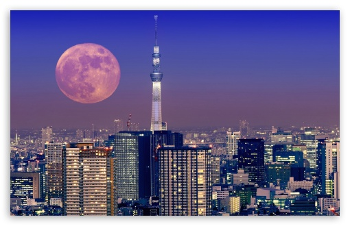 Moon Over Tokyo, Japan ❤ 4K UHD Wallpaper for Wide 16:10 5:3 Widescreen WHXGA WQXGA WUXGA WXGA WGA ; 4K UHD 16:9 Ultra High Definition 2160p 1440p 1080p 900p 720p ; Standard 4:3 5:4 3:2 Fullscreen UXGA XGA SVGA QSXGA SXGA DVGA HVGA HQVGA ( Apple PowerBook G4 iPhone 4 3G 3GS iPod Touch ) ; Tablet 1:1 ; iPad 1/2/Mini ; Mobile 4:3 5:3 3:2 16:9 5:4 - UXGA XGA SVGA WGA DVGA HVGA HQVGA ( Apple PowerBook G4 iPhone 4 3G 3GS iPod Touch ) 2160p 1440p 1080p 900p 720p QSXGA SXGA ;