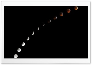 Moon Phases HD Wide Wallpaper for Widescreen