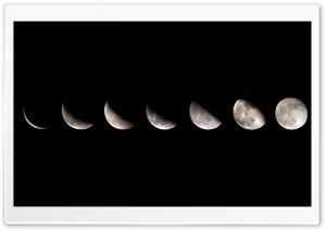 Moon Sequence HD Wide Wallpaper for Widescreen