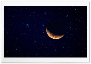 Moon Waning Crescent HD Wide Wallpaper for 4K UHD Widescreen desktop & smartphone