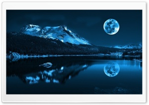 Moonlight Night HD Wide Wallpaper for Widescreen