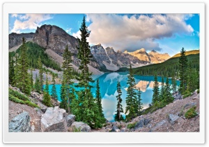 Moraine Lake HD Wide Wallpaper for Widescreen