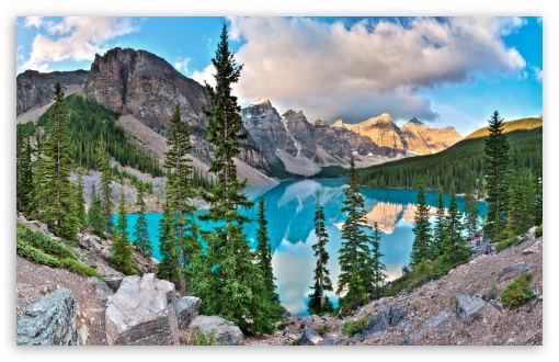 Moraine Lake HD wallpaper for Standard 4:3 5:4 Fullscreen UXGA XGA SVGA QSXGA SXGA ; Wide 16:10 5:3 Widescreen WHXGA WQXGA WUXGA WXGA WGA ; HD 16:9 High Definition WQHD QWXGA 1080p 900p 720p QHD nHD ; Other 3:2 DVGA HVGA HQVGA devices ( Apple PowerBook G4 iPhone 4 3G 3GS iPod Touch ) ; Mobile VGA WVGA iPhone iPad PSP Phone - VGA QVGA Smartphone ( PocketPC GPS iPod Zune BlackBerry HTC Samsung LG Nokia Eten Asus ) WVGA WQVGA Smartphone ( HTC Samsung Sony Ericsson LG Vertu MIO ) HVGA Smartphone ( Apple iPhone iPod BlackBerry HTC Samsung Nokia ) Sony PSP Zune HD Zen ; Tablet 2 Android 3 DVGA HVGA HQVGA devices ( Apple PowerBook G4 iPhone 4 3G 3GS iPod Touch ) ; Dual 4:3 5:4 16:10 5:3 16:9 UXGA XGA SVGA QSXGA SXGA WHXGA WQXGA WUXGA WXGA WGA WQHD QWXGA 1080p 900p 720p QHD nHD ;