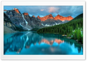 Moraine Lake, and the Valley of the Ten Peaks HD Wide Wallpaper for Widescreen