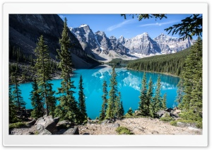 Moraine Lake, Banff National Park, Alberta, Canada HD Wide Wallpaper for 4K UHD Widescreen desktop & smartphone