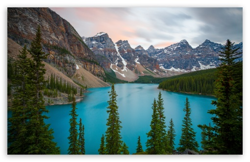 Download Moraine Lake, Mountains, Banff National Park,... UltraHD Wallpaper