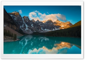 Moraine Lake Sunrise HD Wide Wallpaper for 4K UHD Widescreen desktop & smartphone