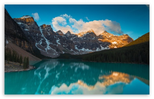 Download Moraine Lake Sunrise HD Wallpaper