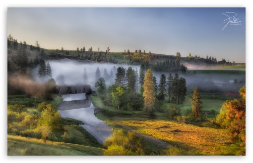 Morning at Palouse River HD wallpaper for Wide 16:10 5:3 Widescreen WHXGA WQXGA WUXGA WXGA WGA ; HD 16:9 High Definition WQHD QWXGA 1080p 900p 720p QHD nHD ; Standard 3:2 Fullscreen DVGA HVGA HQVGA devices ( Apple PowerBook G4 iPhone 4 3G 3GS iPod Touch ) ; Mobile 5:3 3:2 16:9 - WGA DVGA HVGA HQVGA devices ( Apple PowerBook G4 iPhone 4 3G 3GS iPod Touch ) WQHD QWXGA 1080p 900p 720p QHD nHD ;